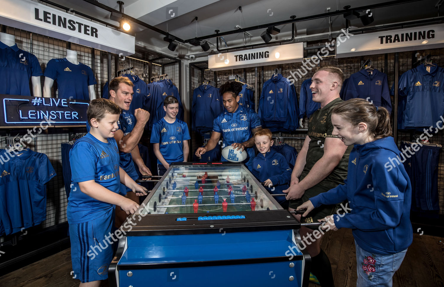 f9fd9b7b90f Stock photo of Launch Of The New Leinster Rugby Home And Alternate Jersey  Available Exclusively From