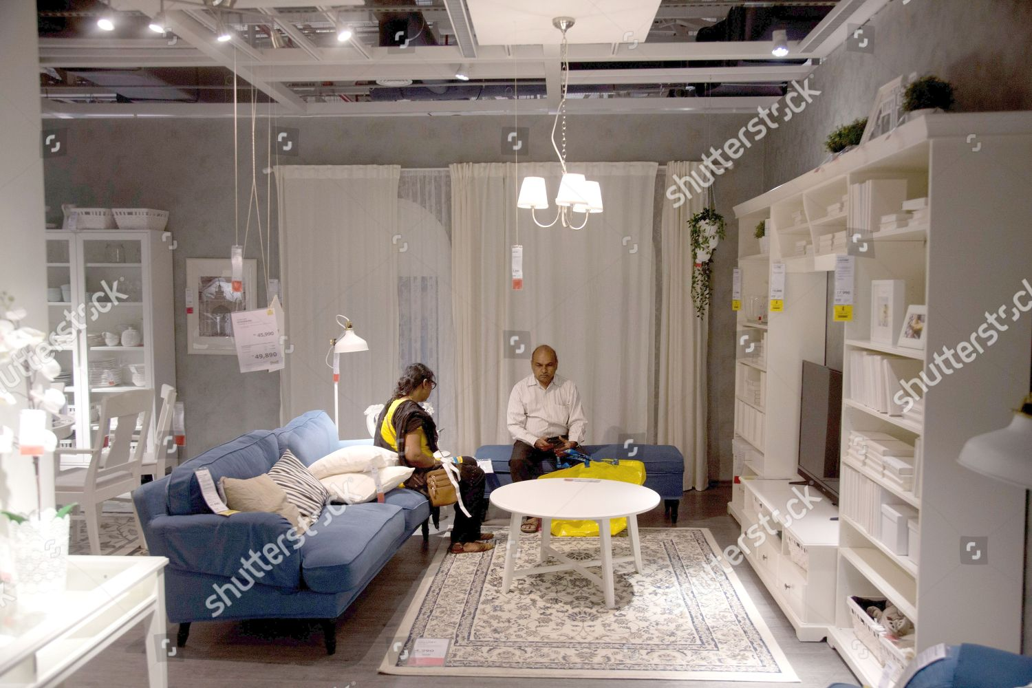 Indian Customers Check Furnishings Inside Ikeas First Editorial
