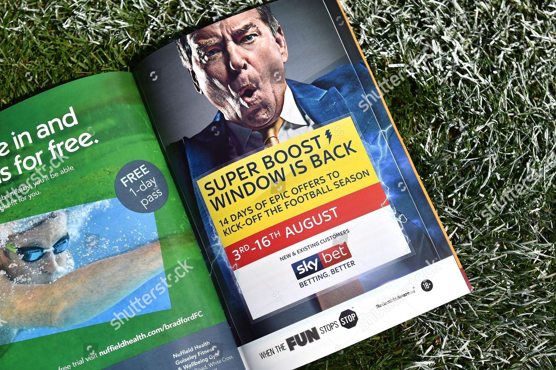 Sky Bet Advert Match Day Programme Editorial Stock Photo