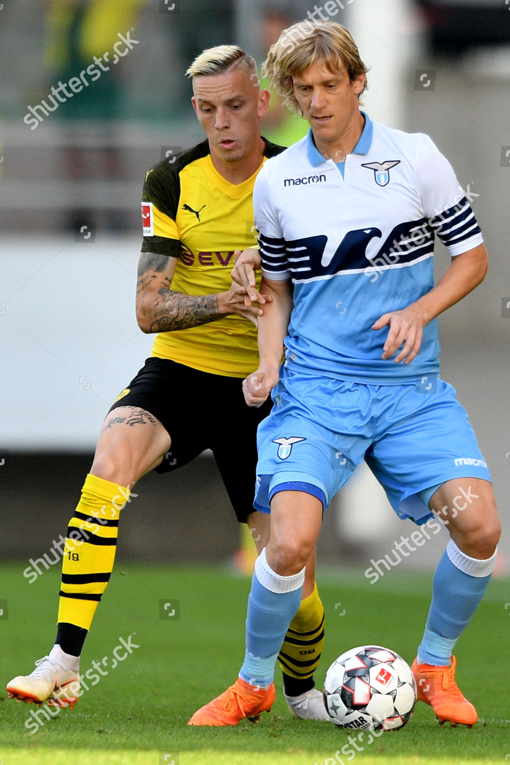 Dortmunds Marius Wolf L Action Against Lazios Editorial Stock Photo Stock Image Shutterstock