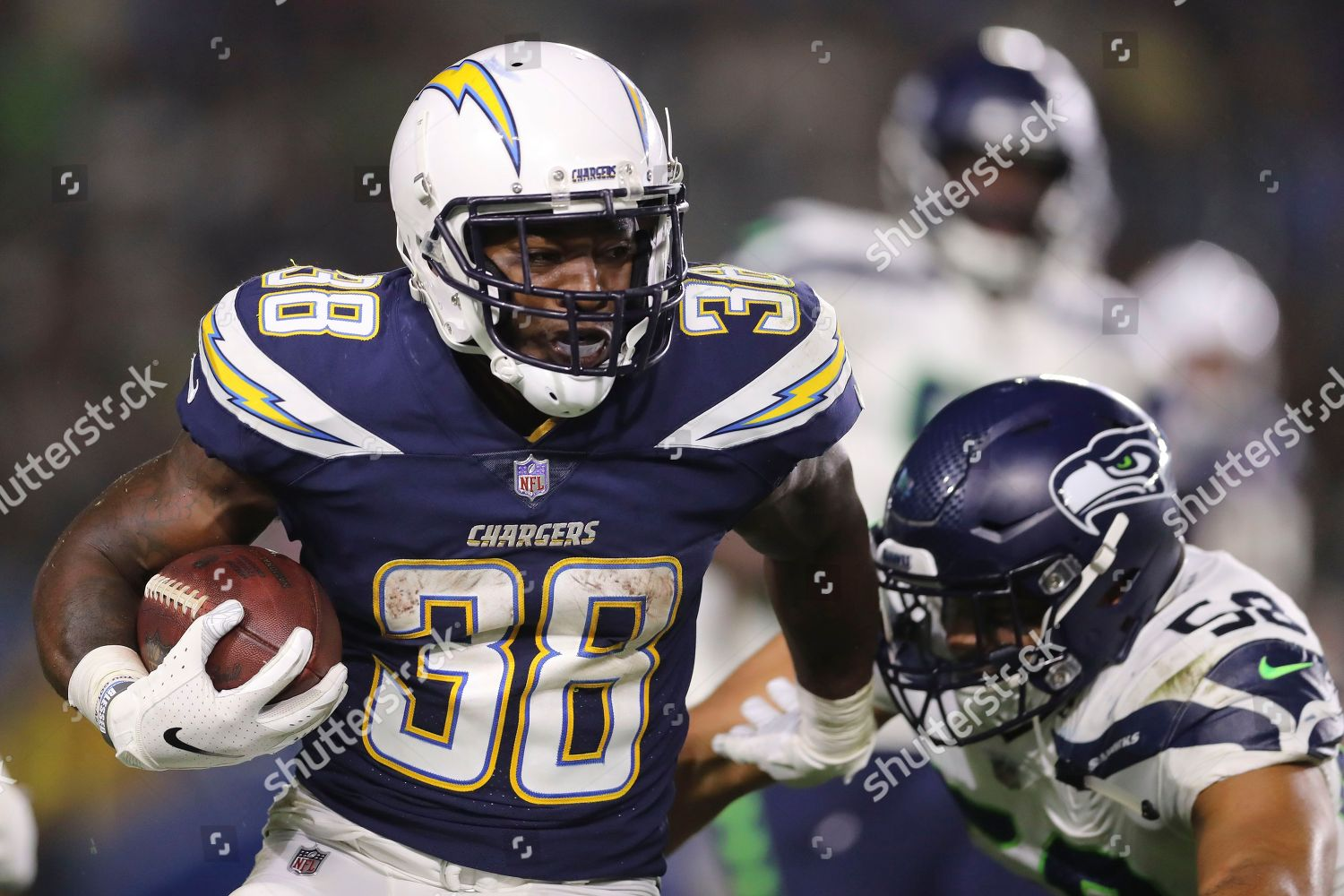 best service a88f2 67da7 Los Angeles Chargers running back Detrez Newsome Editorial ...