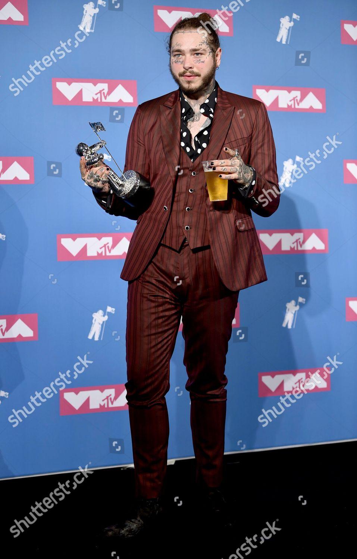Post Malone poses award song year Rockstar Editorial Stock Photo