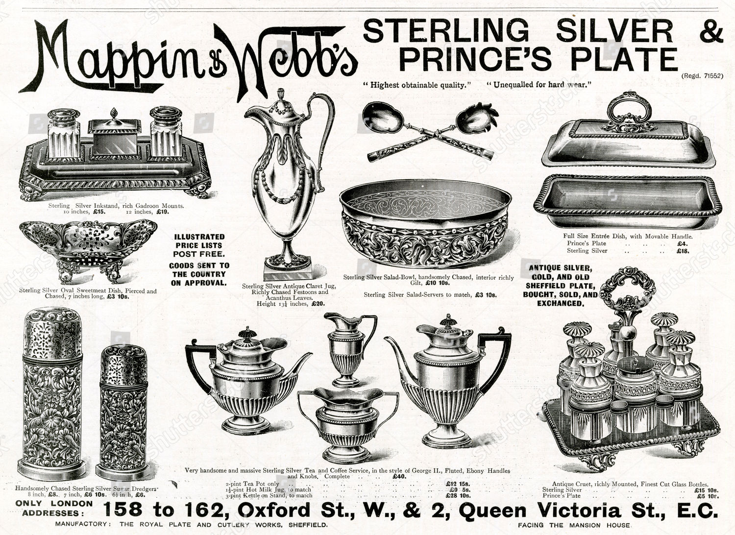And silver mappin webb Silverplate