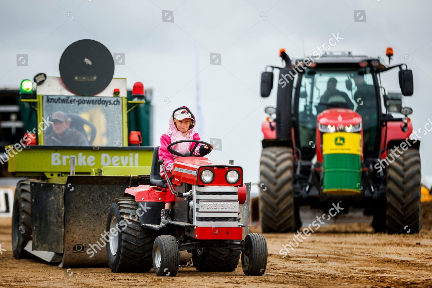 Young Girl Drives Her 05 Ton Garden Editorial Stock Photo Stock