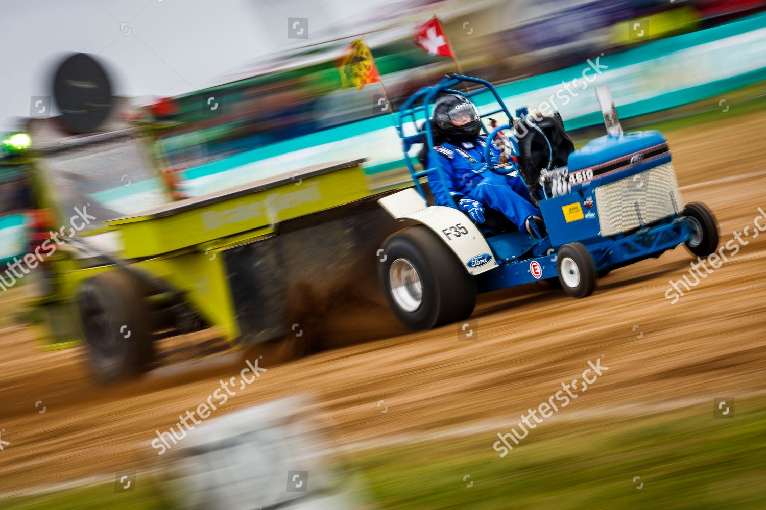 Boy Drives His Modified 05 Ton Garden Editorial Stock Photo