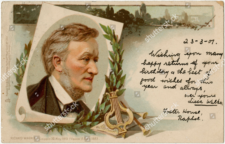 Richard Wagner 18131883 German Composer Unattributed Postcard