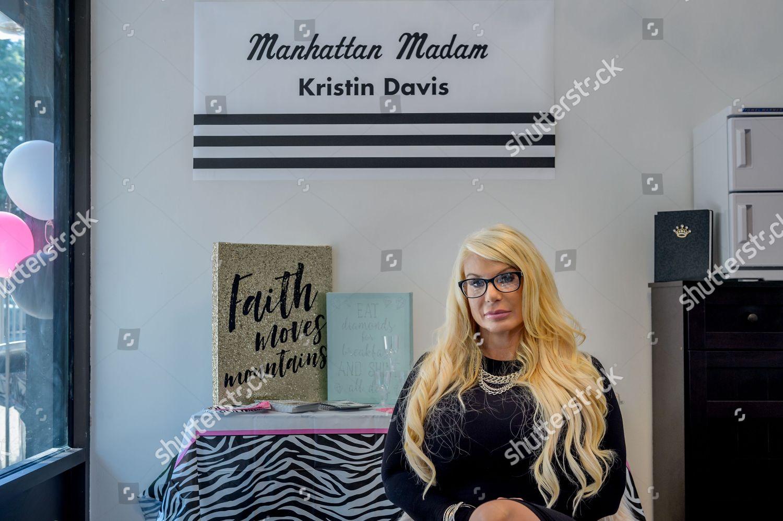 Stock photo of Manhattan Madam Kristin Davis opens nail salon, New York, USA - 24 Aug 2018