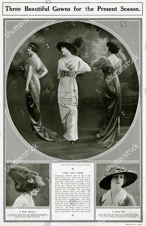 Three Women Models Wearing Pretty Fashionable Frocks