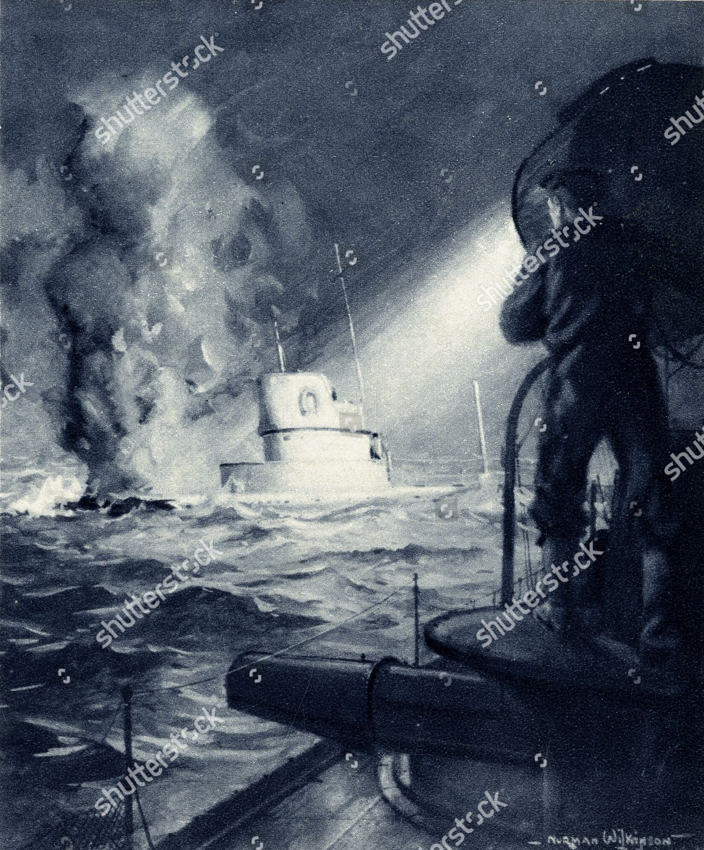 Ww1 Hms Badger Acheronclass Destroyer Royal Navy Editorial Stock