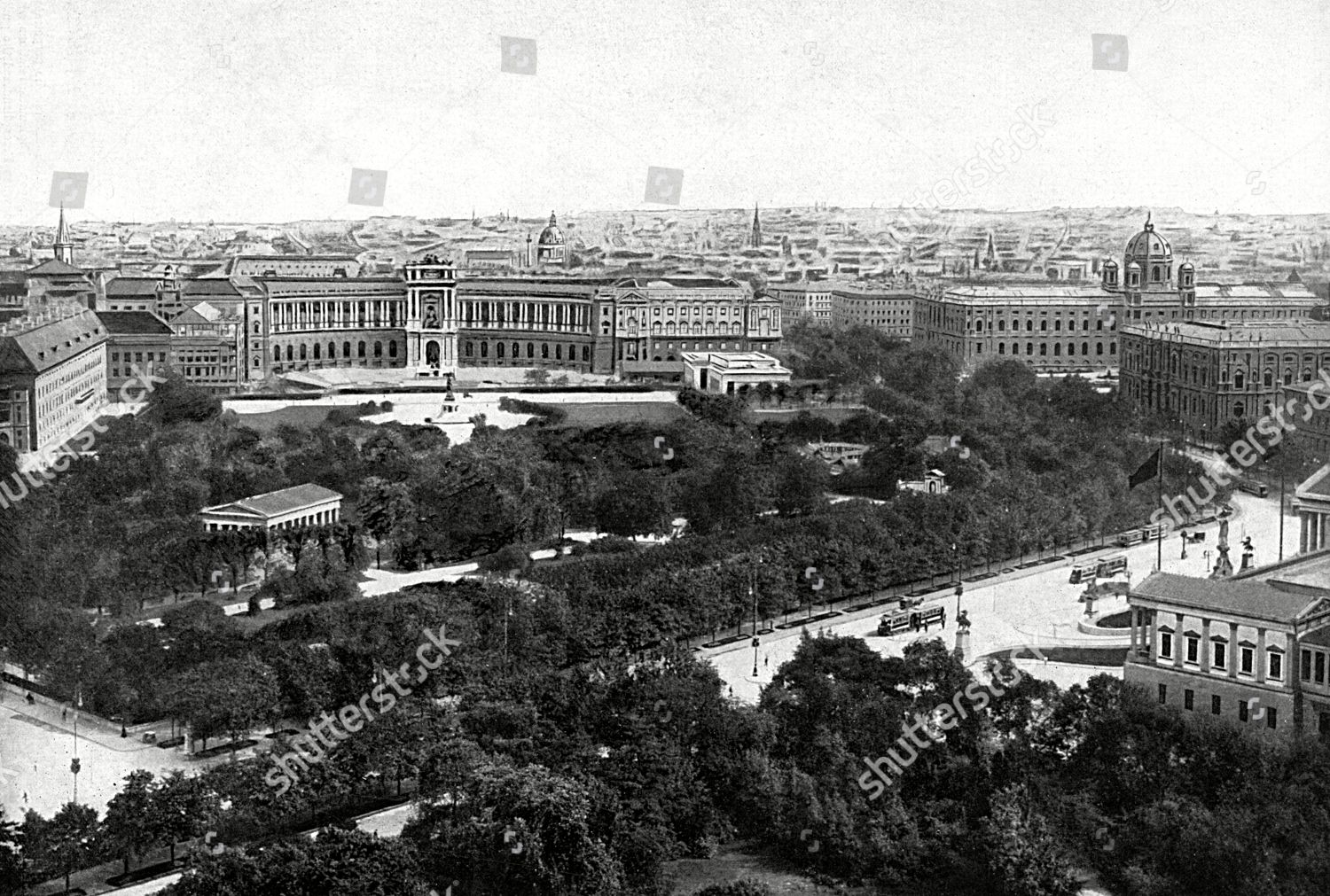 Stock photo of Vienna at the Beginning of World War I, 1914