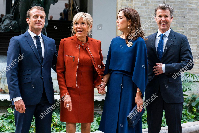 Lr French President Emmanuel Macron Brigitte Macron Editorial Stock Photo Stock Image Shutterstock