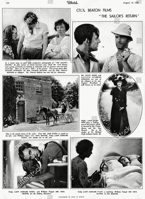 überlegene Materialien Brandneu Sonderrabatt Cecil Beaton Films The Sailors Return Stills Editorial Stock ...
