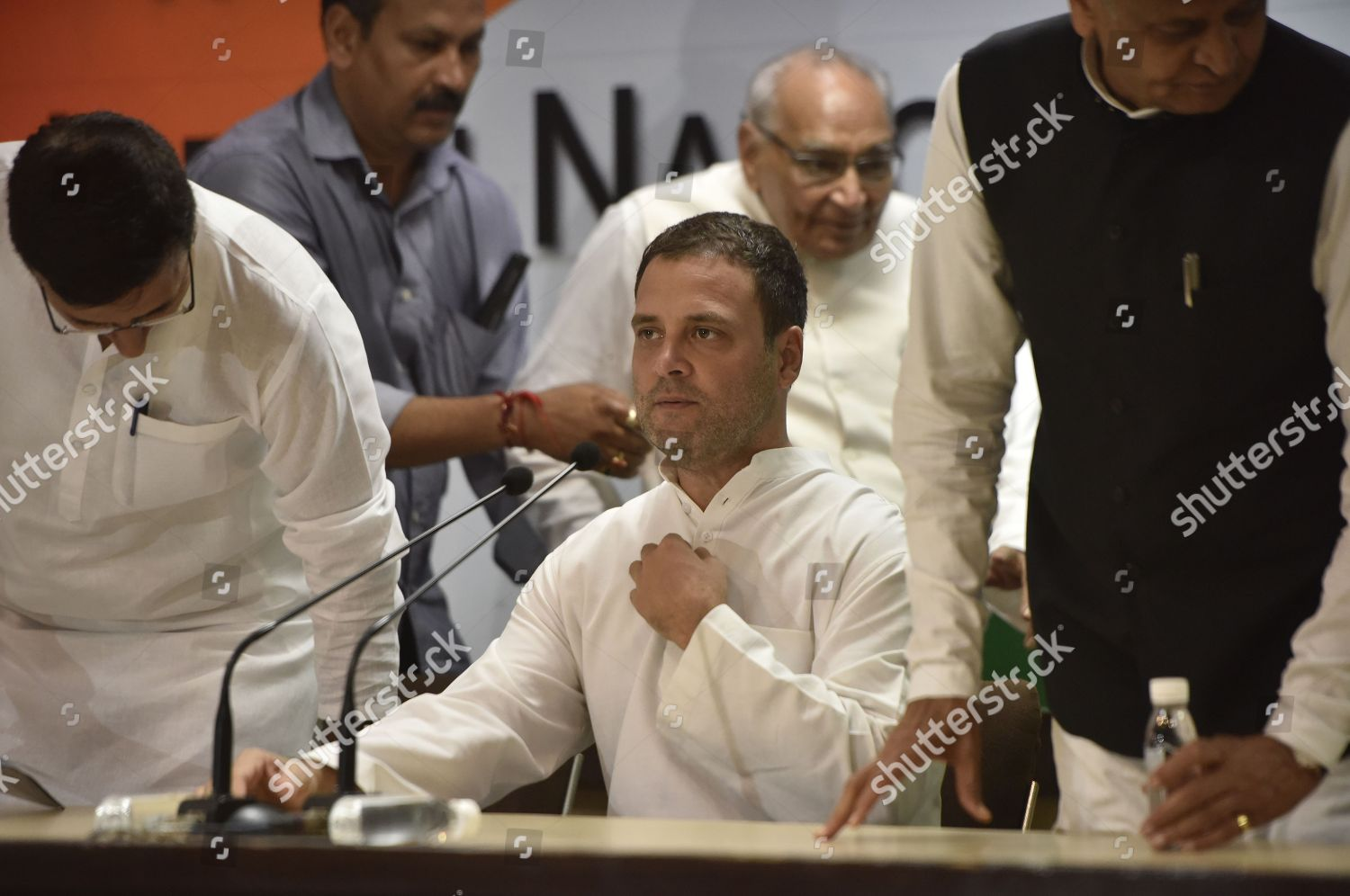 Congress president Rahul Gandhi during press conference Editorial
