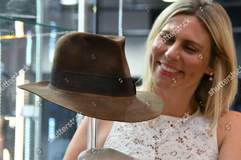 3138e3ef1a9bb Harrison Fords Indiana Jones Signature Fedora hat Foto editorial en ...