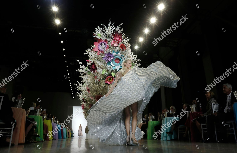 Stock photo of Badgley Mischka - Runway - New York Fashion Week Spring 2019, USA - 08 Sep 2018