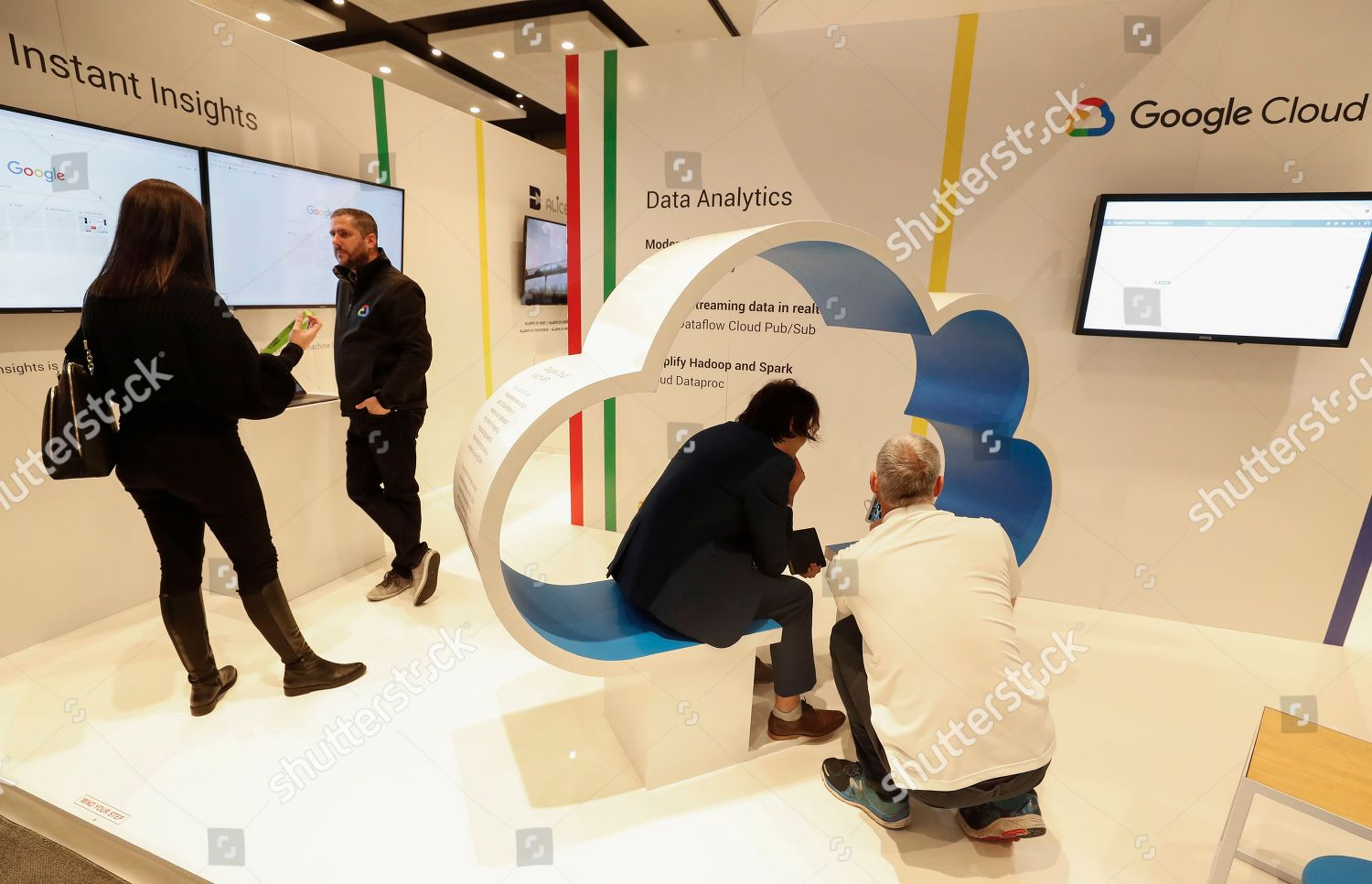 Expo Stands Cape Town : Delegates interact google stand during artificial intelligence