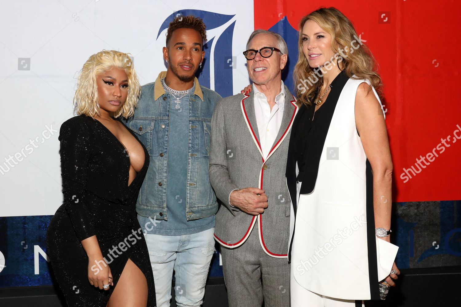 nicki minaj lewis hamilton tommy hilfiger dee foto. Black Bedroom Furniture Sets. Home Design Ideas