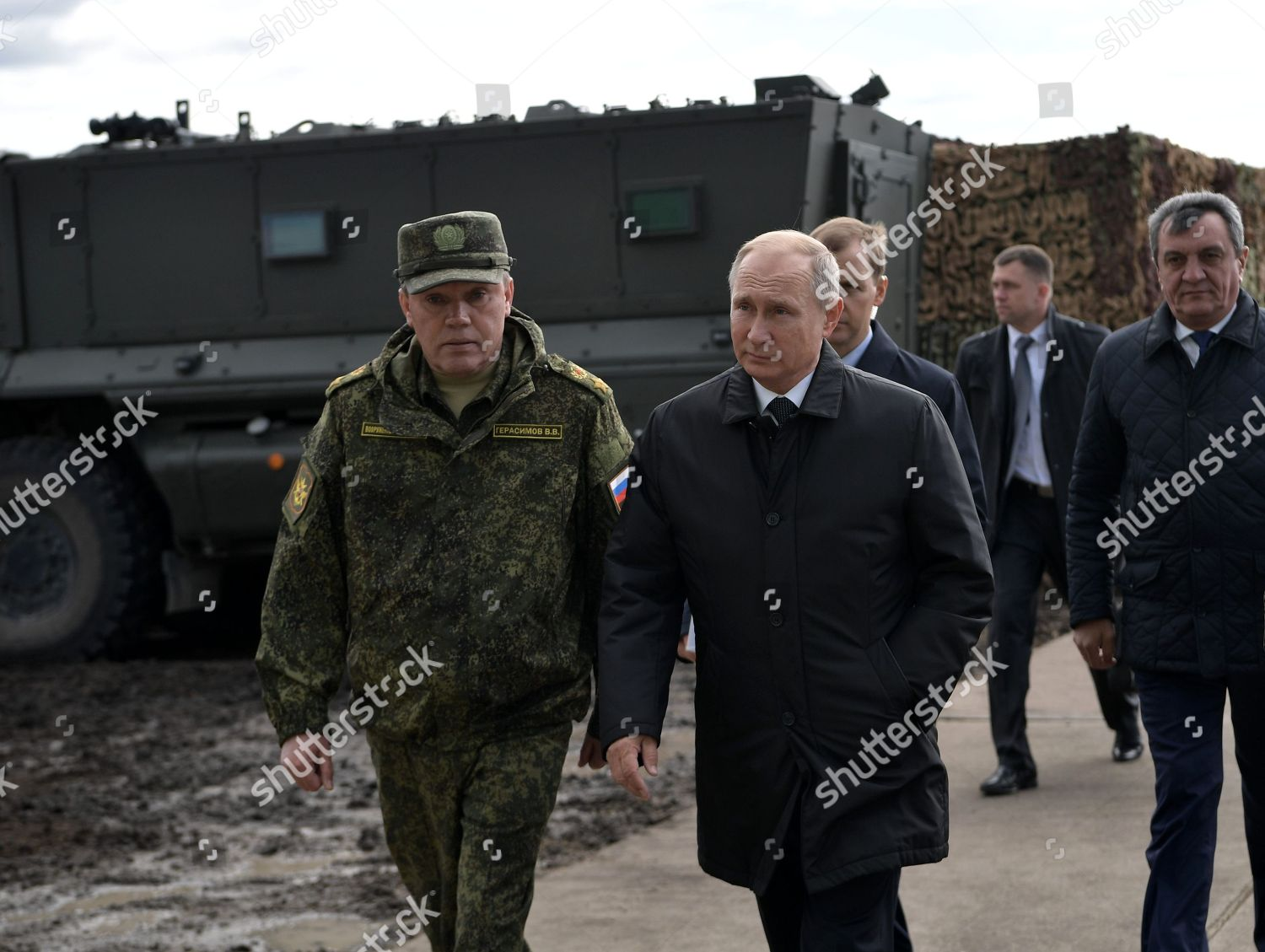 Russian President Vladimir Putin C General Army Editorial Stock Photo Stock Image Shutterstock