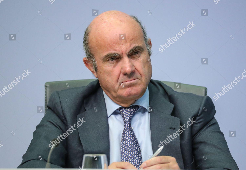 Luis De Guindos Vice President European Central Editorial Stock