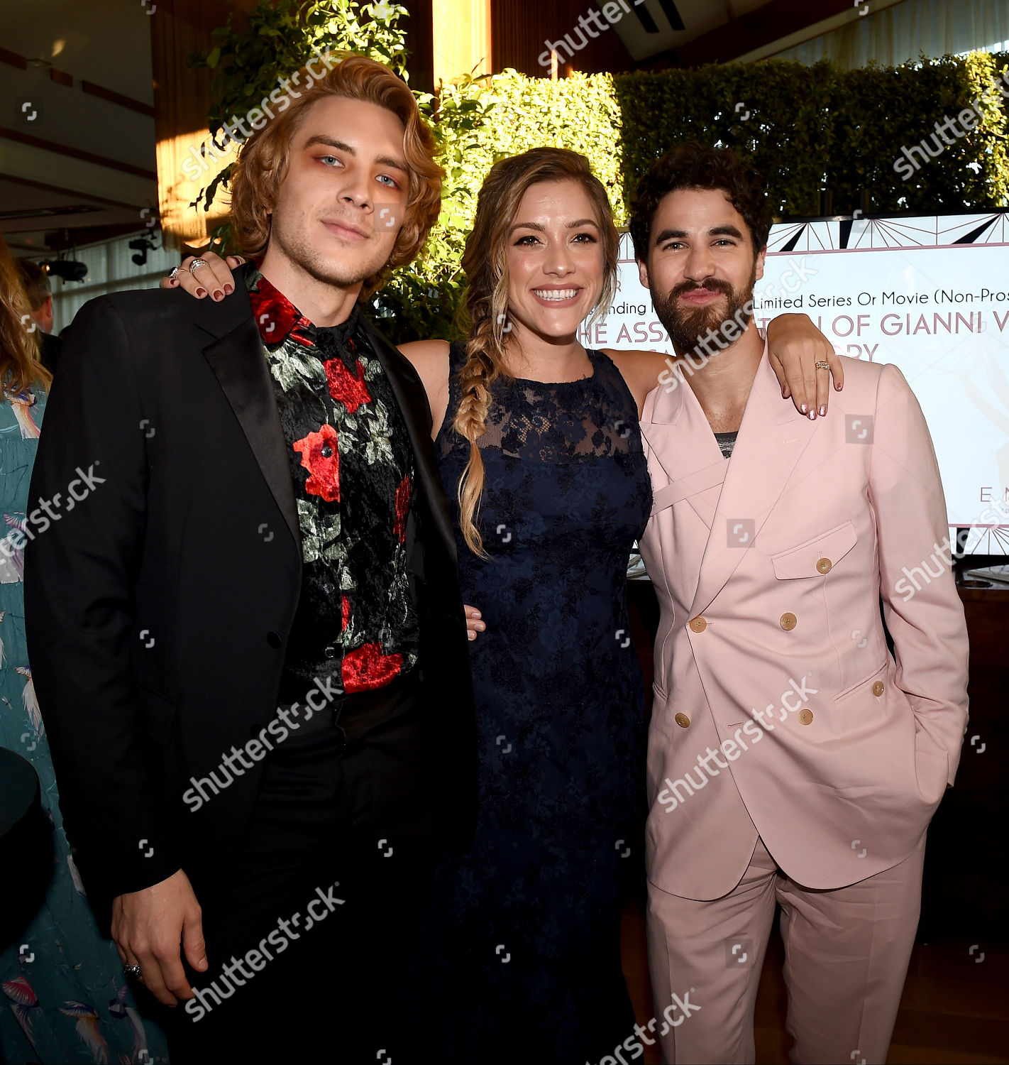 Cody Fern Mia Swier Darren Criss Editorial Stock Photo