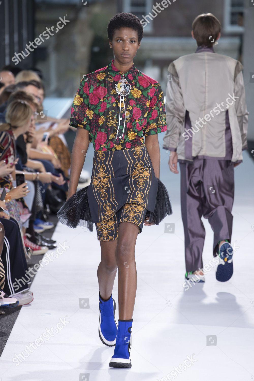 09134ad6c77 Model on catwalk Editorial Stock Photo - Stock Image
