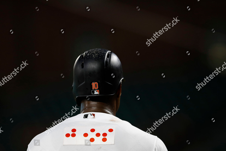 pretty nice ef97f 55315 Baltimore Orioles Adam Jones wears jersey featuring ...