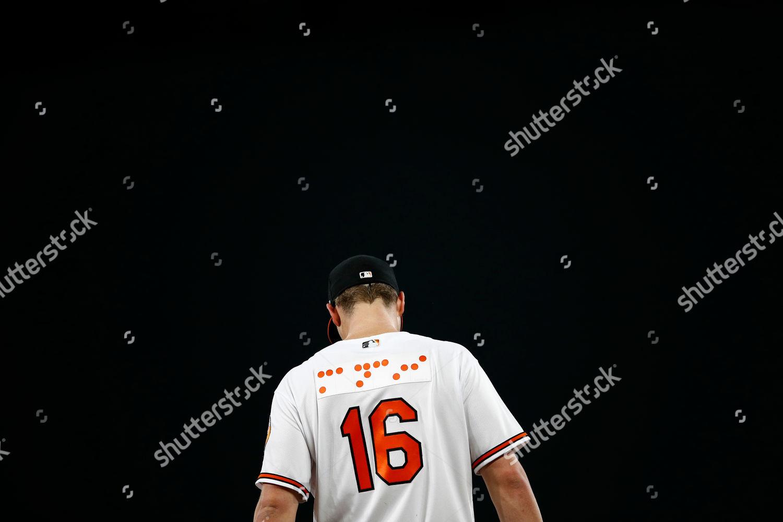size 40 58055 c2441 Baltimore Orioles first baseman Trey Mancini wears Editorial ...
