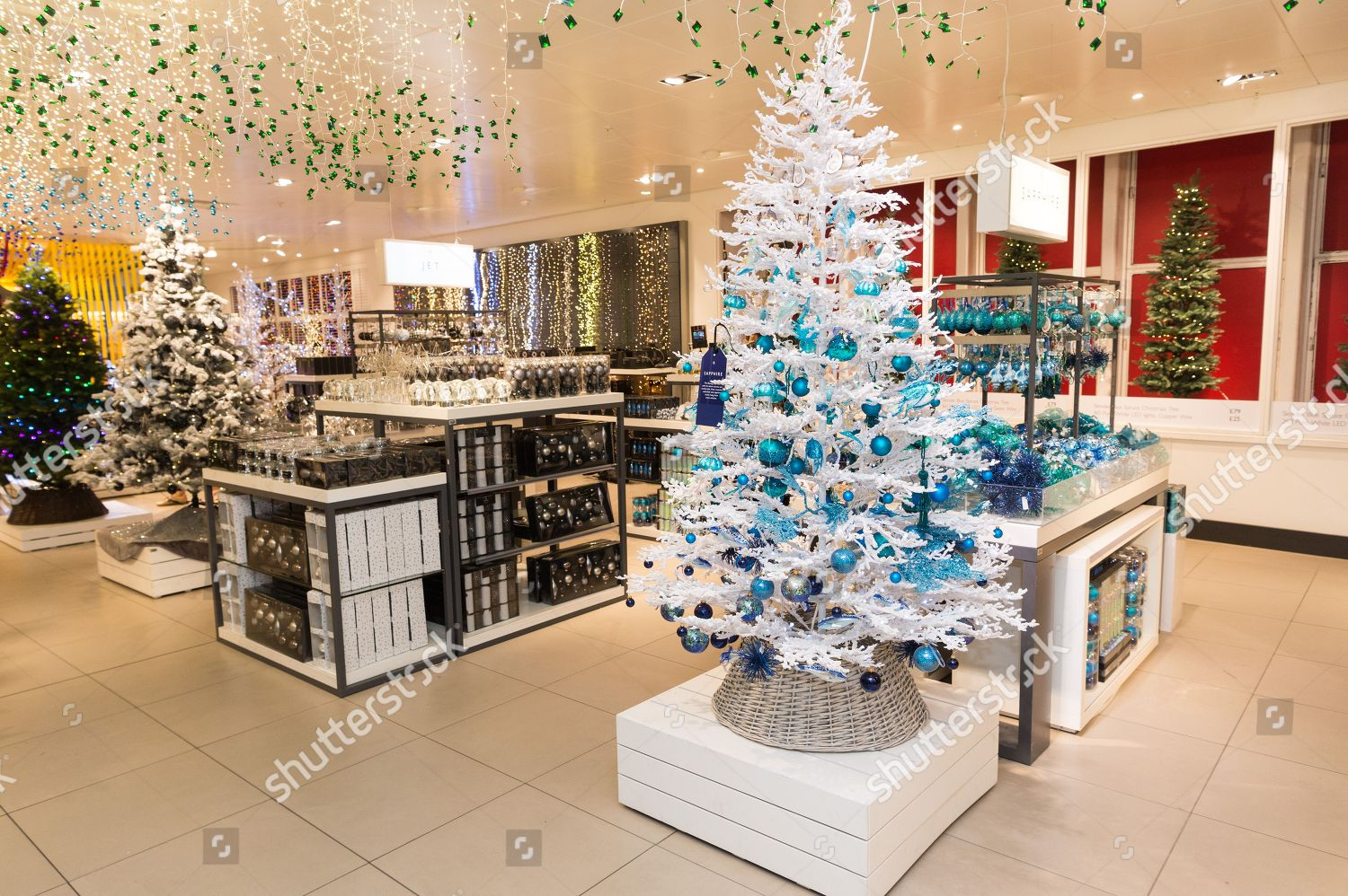 John Lewis Christmas Decorations.Christmas Decorations On Display Editorial Stock Photo
