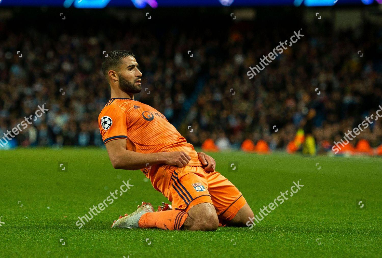 Lyons Nabil Fekir Celebrates Scoring Second Goal Editorial Stock