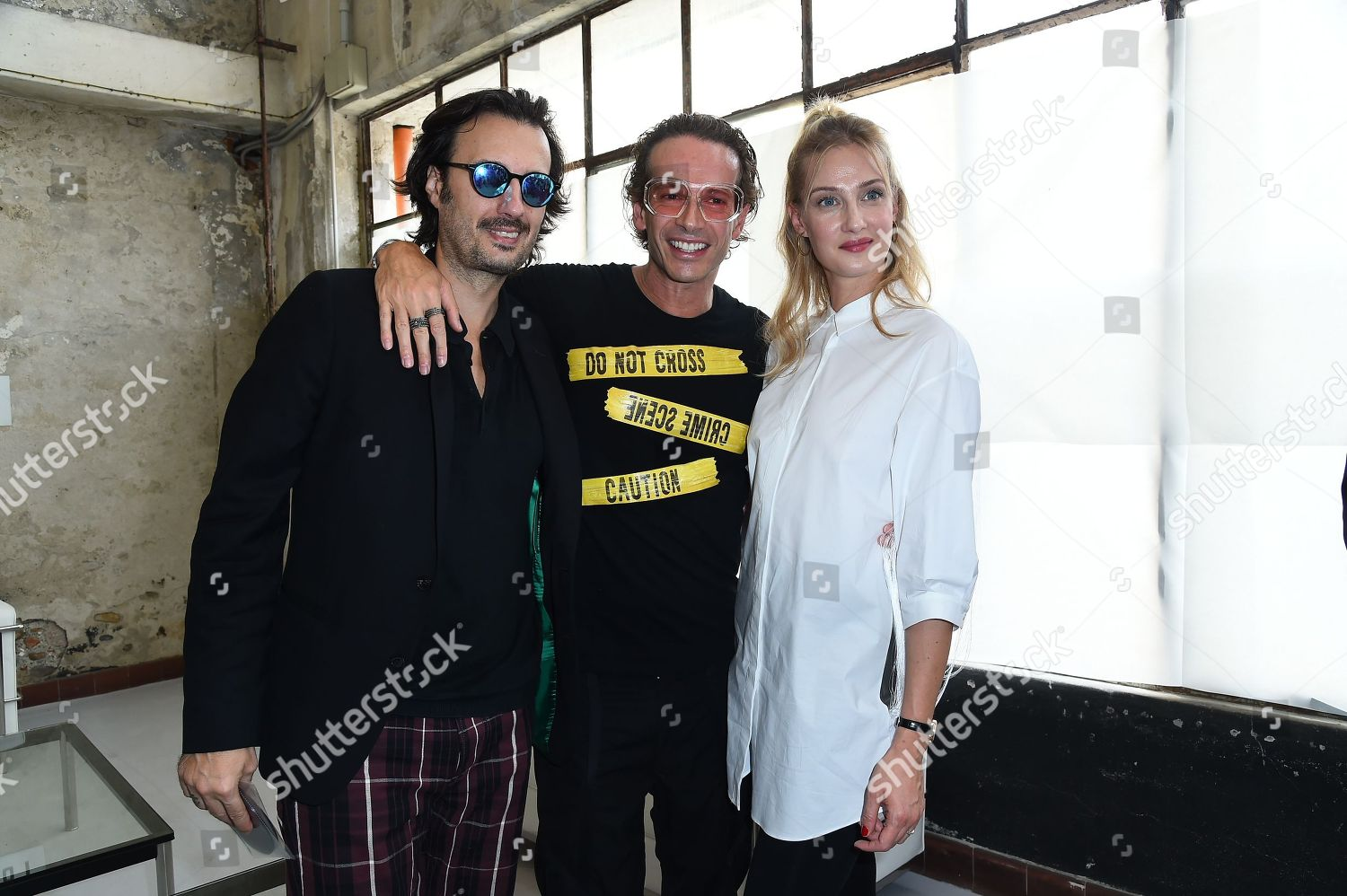 Stock photo of Byblos show, Front Row, Spring Summer 2019, Milan Fashion Week, Italy - 19 Sep 2018