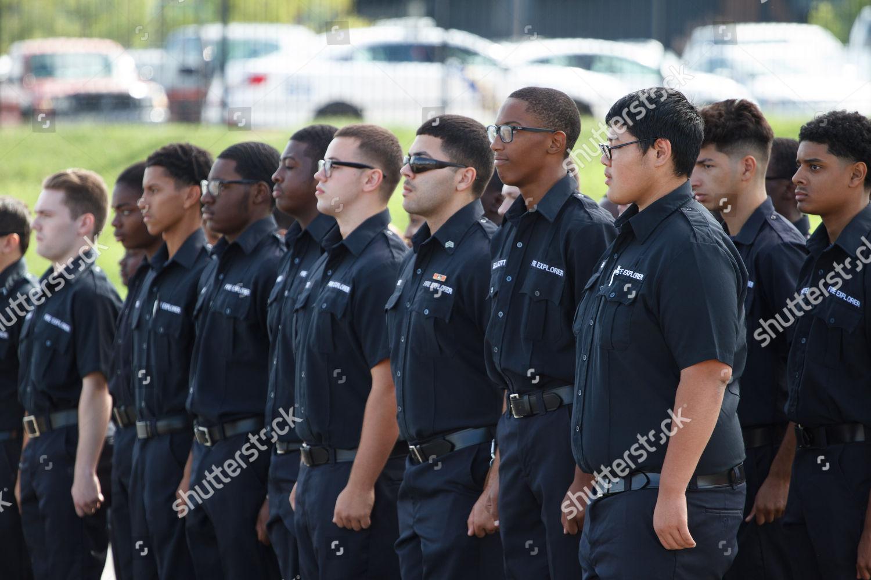 Young adult members Philadelphia Fire Explorers program