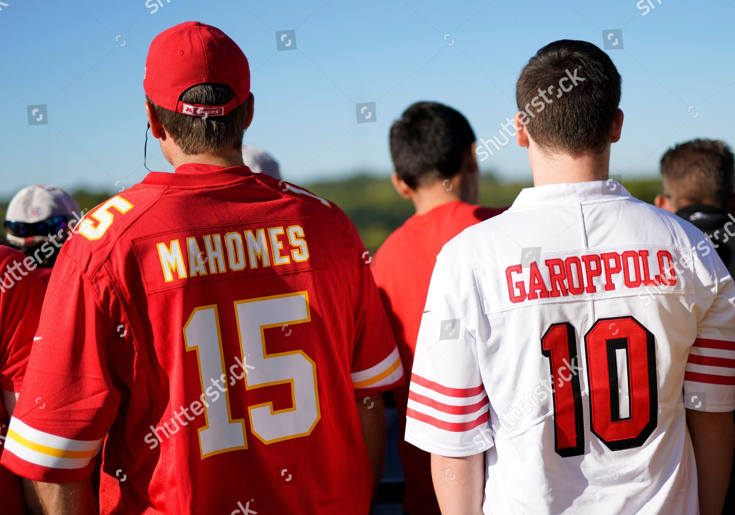 best authentic 322af c9fad Fans wearing jerseys San Francisco 49ers quarterback ...