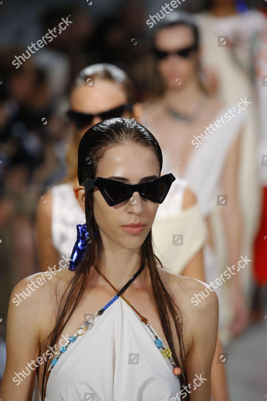 f995148b6c Model on catwalk Sunglasses detail Stock Photo (9890088z ...