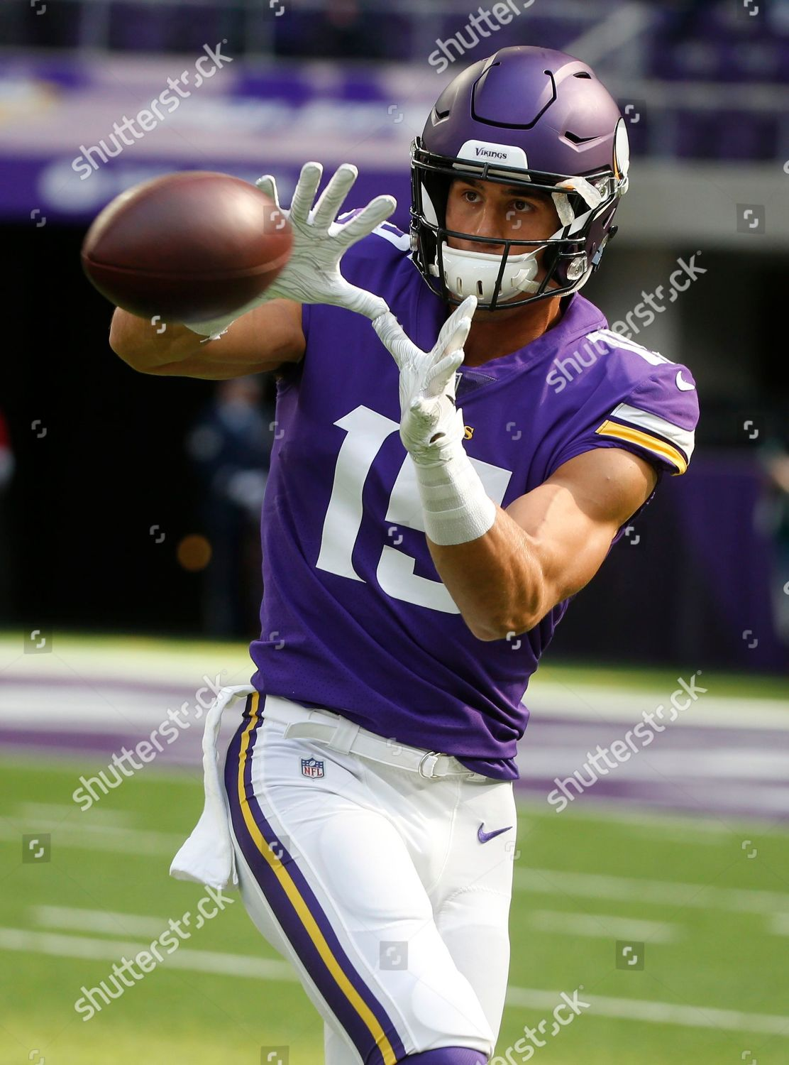 best website 1ef82 cea16 Minnesota Vikings wide receiver Brandon Zylstra warms ...