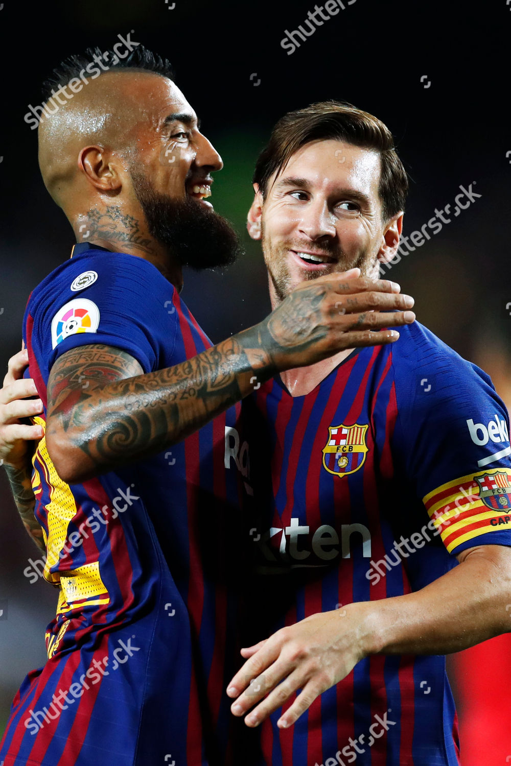 ba367c5b0 Arturo Vidal Lionel Messi Barcelona Editorial Stock Photo - Stock ...