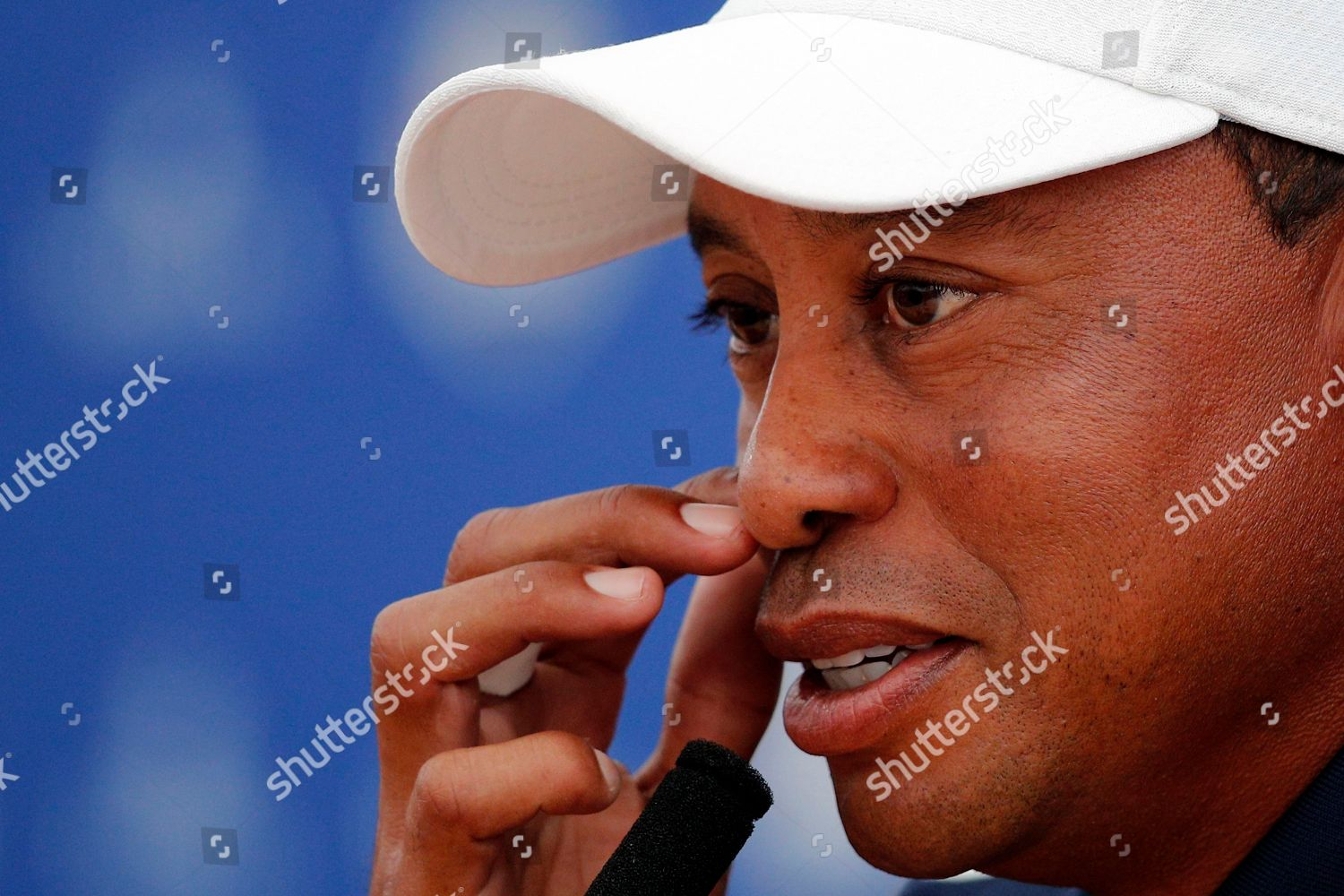 623eb1c2dbc7c Tiger Woods US answers questions during press Editorial Stock Photo ...