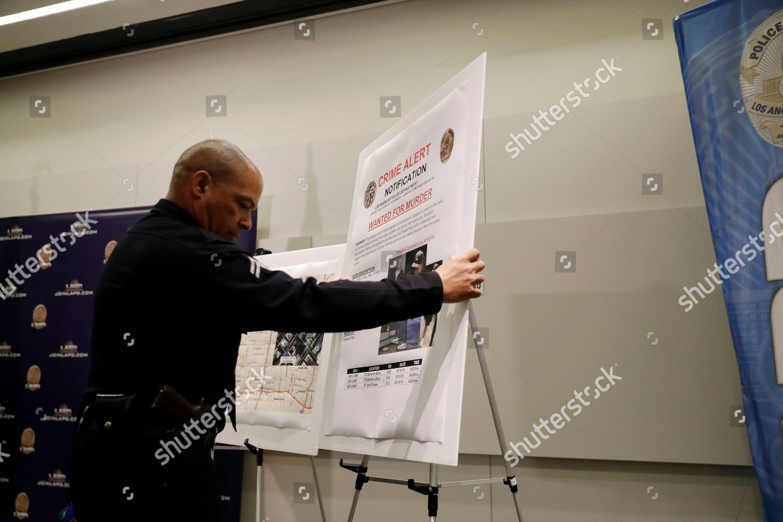 crime alert bulletin posted during press conference