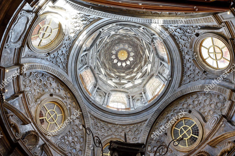 interior view Guarini chapel called Chapel Holy Editorial