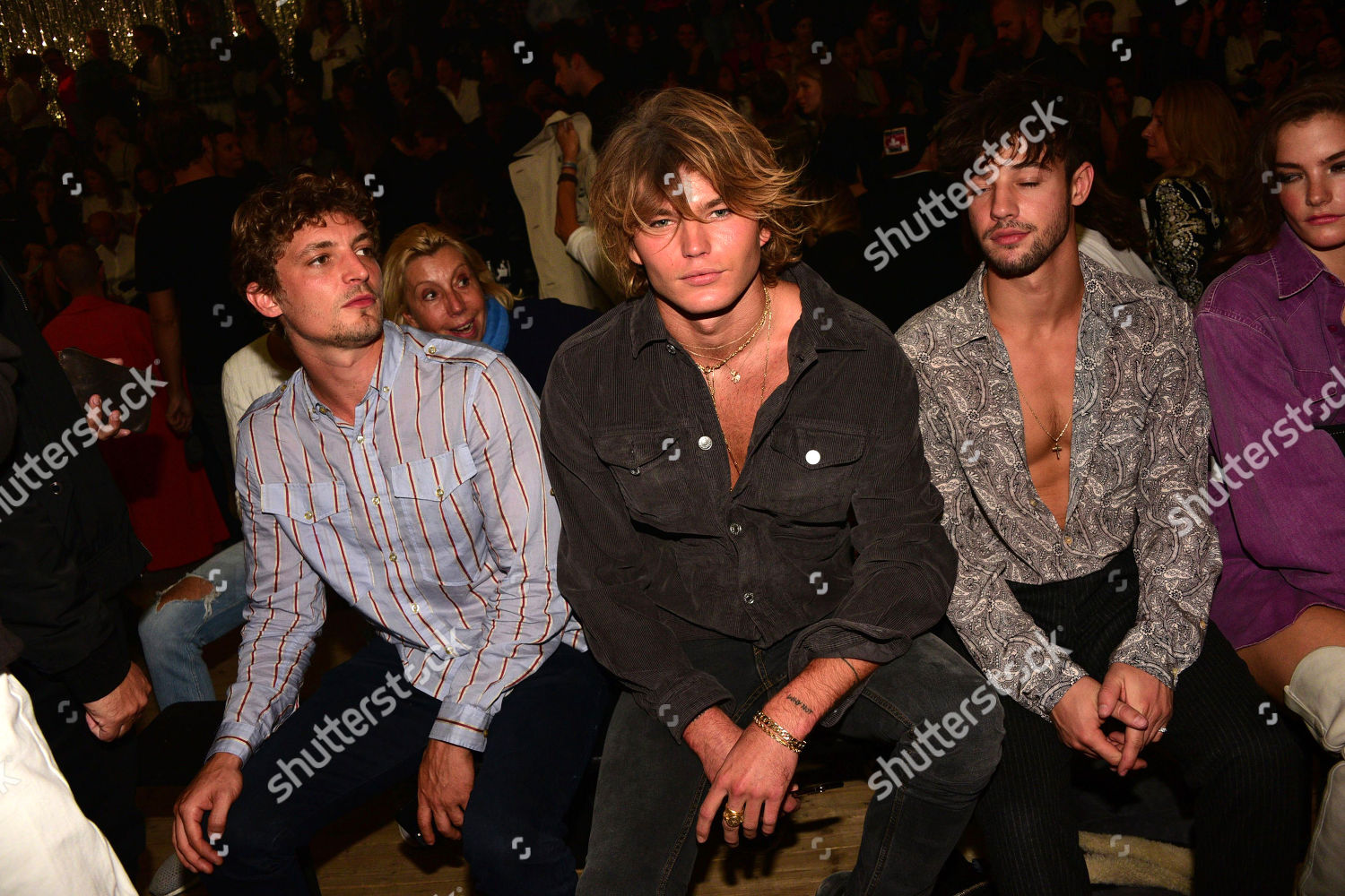 ddafe397 Isabel Marant show, Front Row, Spring Summer 2019, Paris Fashion Week,  France Stock Image by LAURENT BENHAMOU for editorial use, Sep 27, 2018