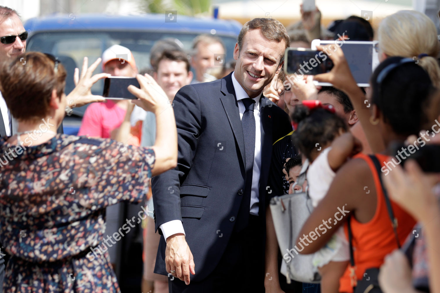 French President Emmanuel Macron C Poses Pictures Editorial Stock Photo Stock Image Shutterstock