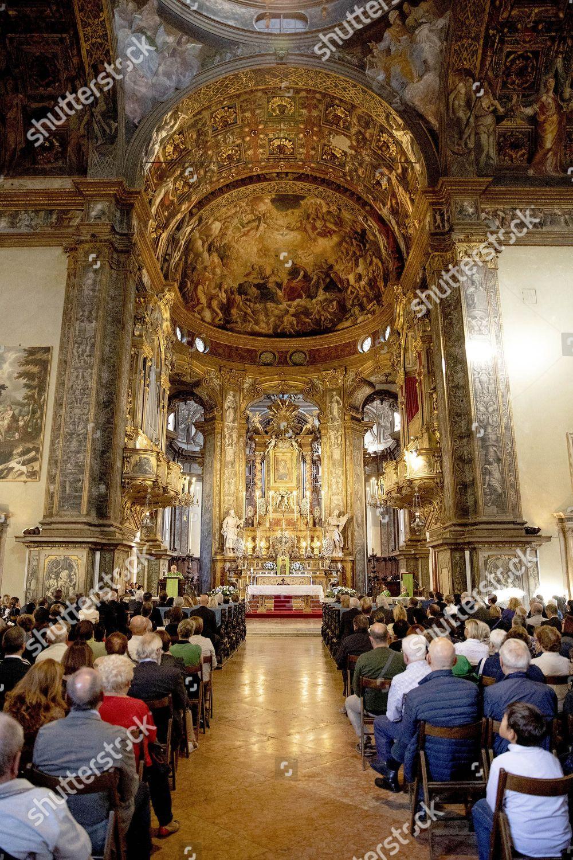 Stock photo of Family de Bourbon de Parme visiting the Steccata church, Parma, Italy - 29 Sep 2018