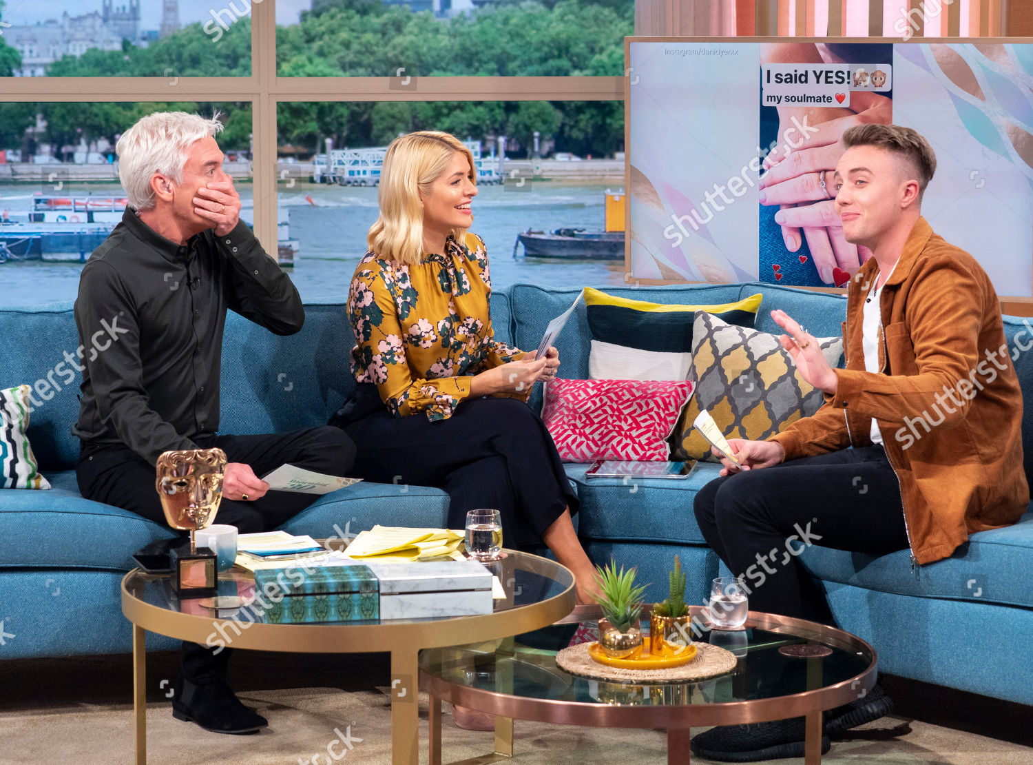 Phillip Schofield Holly Willoughby Roman Kemp Editorial Stock Photo