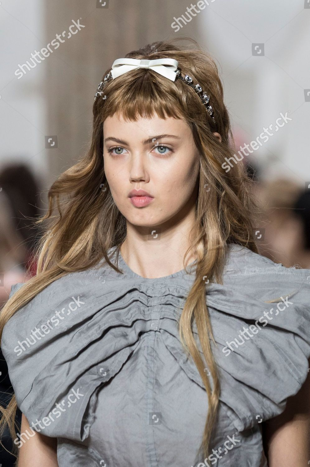 5b9a28cac99 Lindsey Wixson on catwalk detail Editorial Stock Photo - Stock Image ...