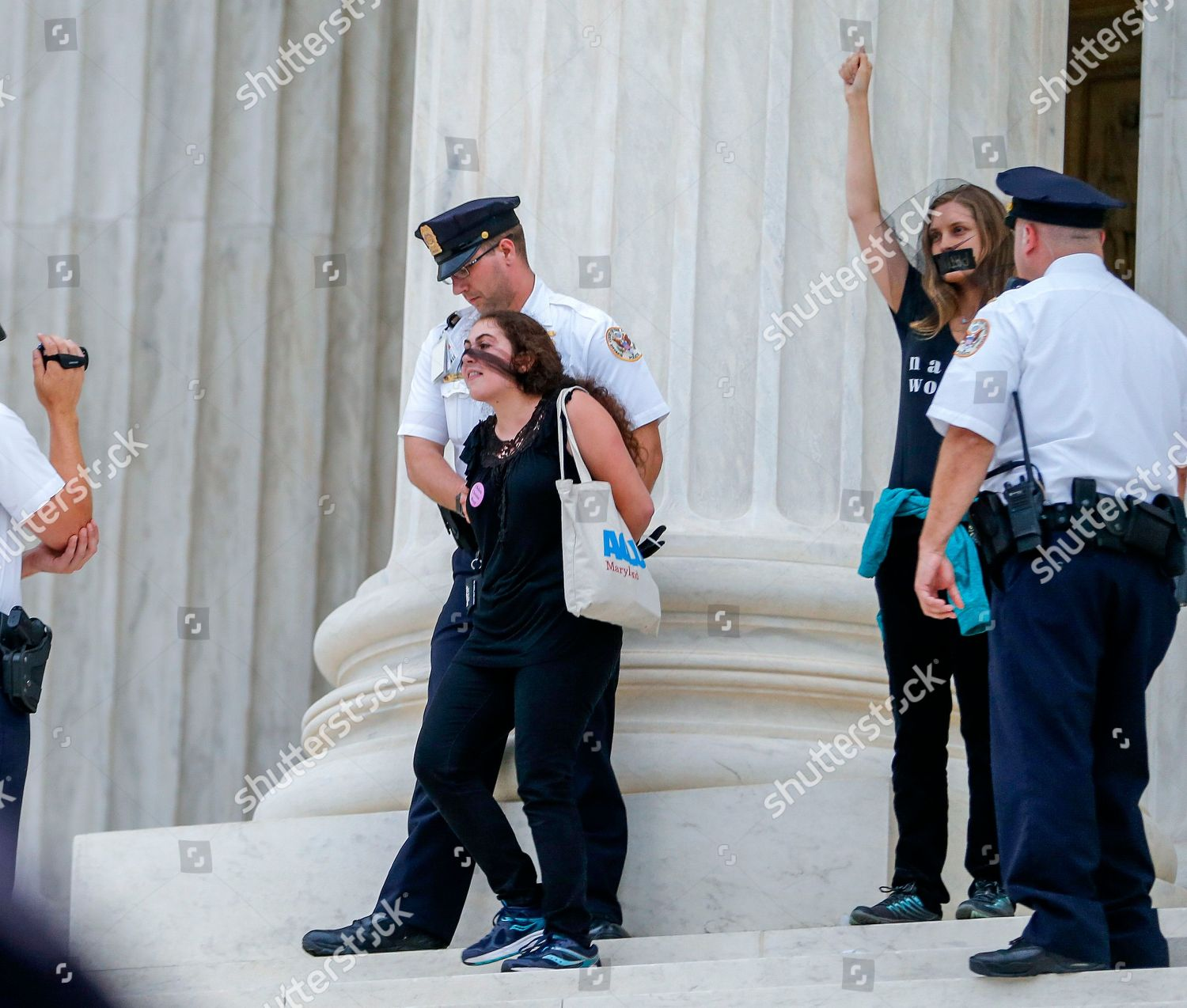 2cf9352b2ed Protesters arrested on steps outside US Supreme Editorial Stock ...