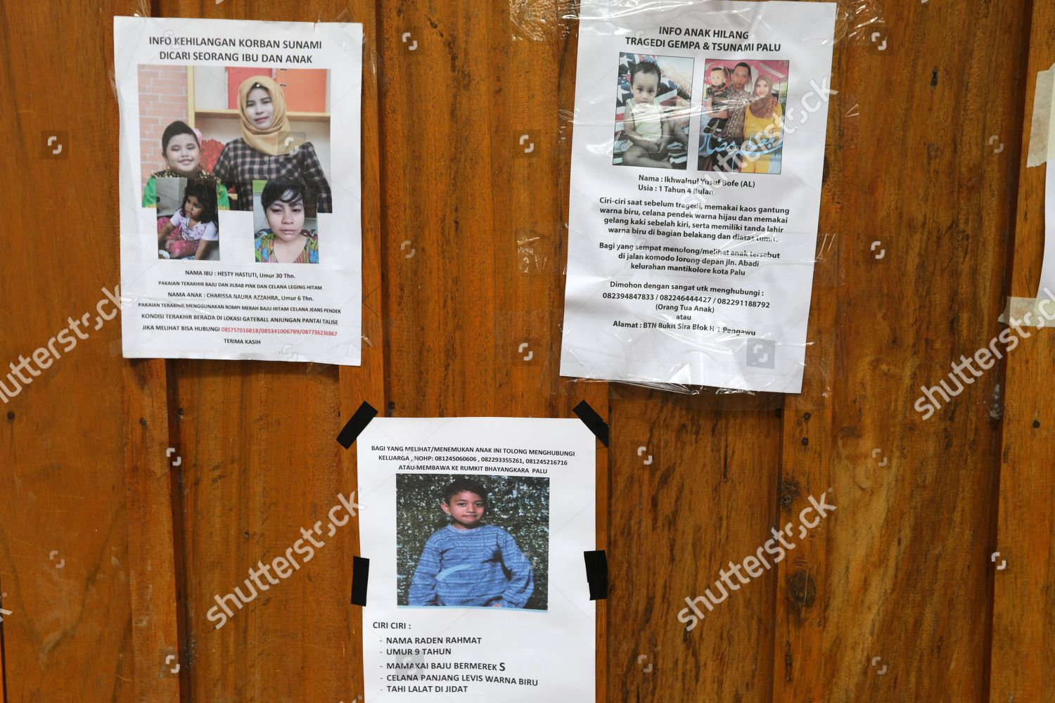 Information About Missing Persons Posted On Wooden Editorial Stock Photo Stock Image Shutterstock