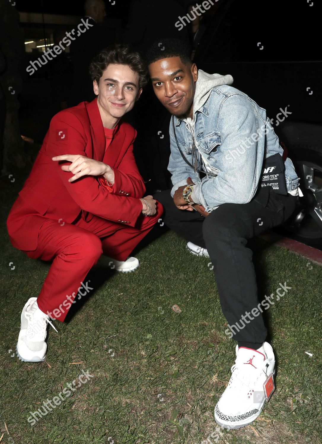 f07e303283 Timothee Chalamet Kid Cudi Editorial Stock Photo - Stock Image ...