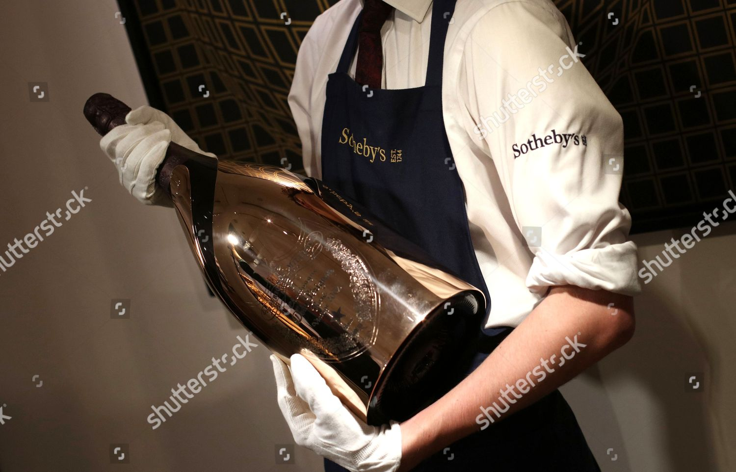 Dom Perignon Gold Mathusalem 2002 Editorial Stock Photo