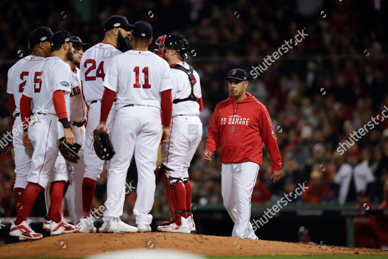 Boston Red Sox manager Alex Cora right Editorial Stock Photo