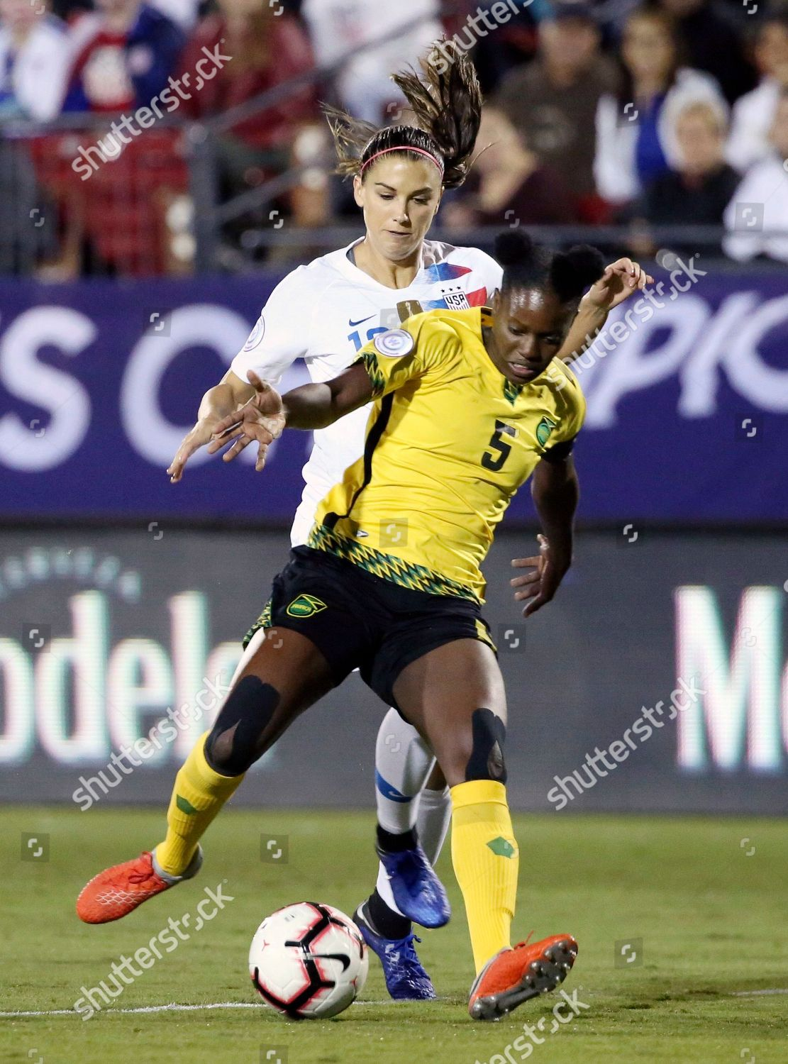 United States Forward Alex Morgan Back Follows Editorial Stock Photo The Are As Jamaica Soccer Frisco Usa 14 Oct 2018