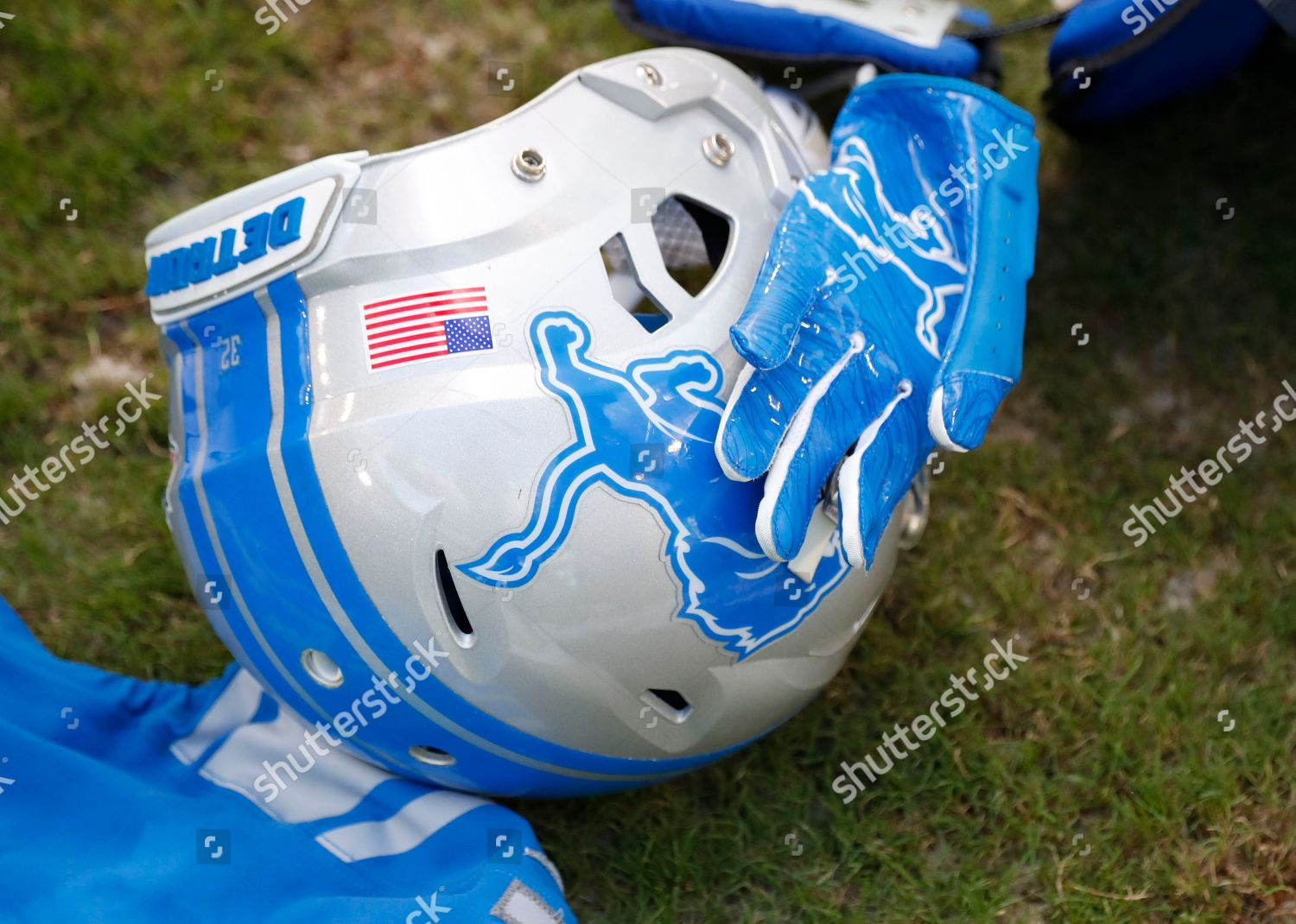 big sale 57050 2f159 Gear Detroit Lions gear on field after Editorial Stock Photo ...